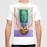 Dial M For Mekon  Mens Fitted Tee White SMALL