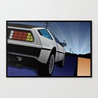 Delorean Rear 2 Canvas Print
