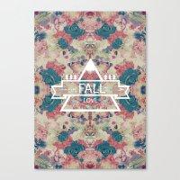 FALL LOVE Canvas Print