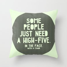 High-Five Throw Pillow