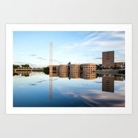 River River Reflection Art Print