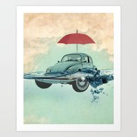 VW Chance Of Rain In Dee… Art Print