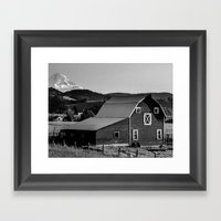Barn In Hood River Valle… Framed Art Print