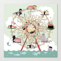 The Sushi Wheel Canvas Print