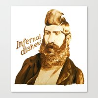 Infernal dishes Canvas Print