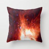 Burning Star Throw Pillow