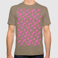 Gamer  - Pink On White Mens Fitted Tee Tri-Coffee SMALL