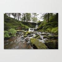 Blaen-y-glyn Waterfall 3 Canvas Print