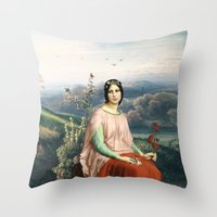 Lady of the Fields Throw Pillow