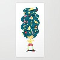 I Hate Combs! Art Print