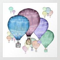 Balloons and animals! Art Print