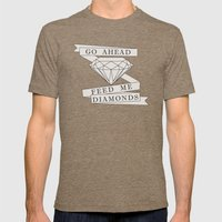 Feed Me Diamonds Mens Fitted Tee Tri-Coffee SMALL