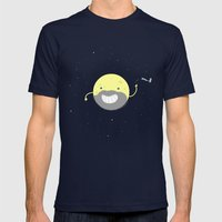 MOONVEMBER Mens Fitted Tee Navy SMALL
