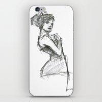 Lady-1 iPhone & iPod Skin