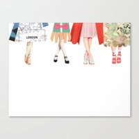 Legs And Heeels Canvas Print
