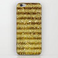 Gold Glitter Stripes  iPhone & iPod Skin