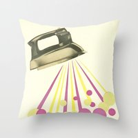 Steamy Throw Pillow