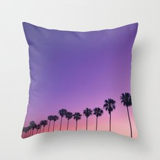 Palm Sunset Throw Pillow