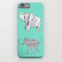 iPhone & iPod Case featuring two ways to see one elephant by Bianca Green