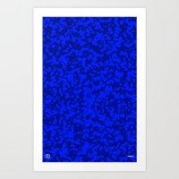 Comp  Camouflage / Blue Art Print