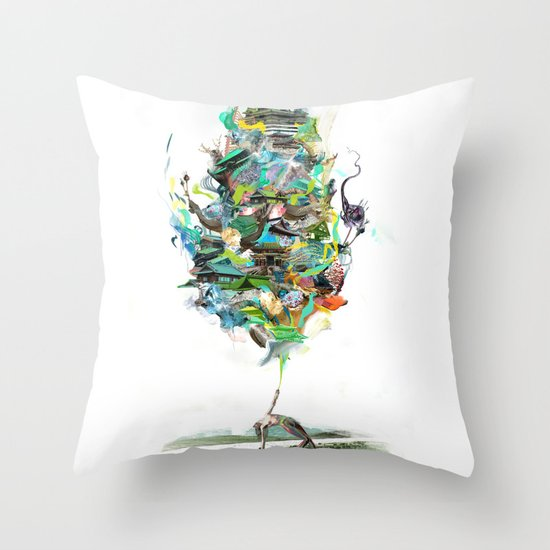 Aqualegia Throw Pillow