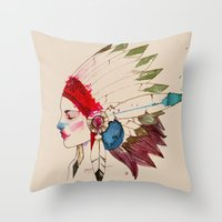INDIAN Throw Pillow