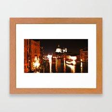 Morning traffic in Venice Framed Art Print