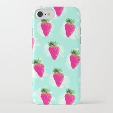 Watercolor Strawberry iPhone 7 Slim Case