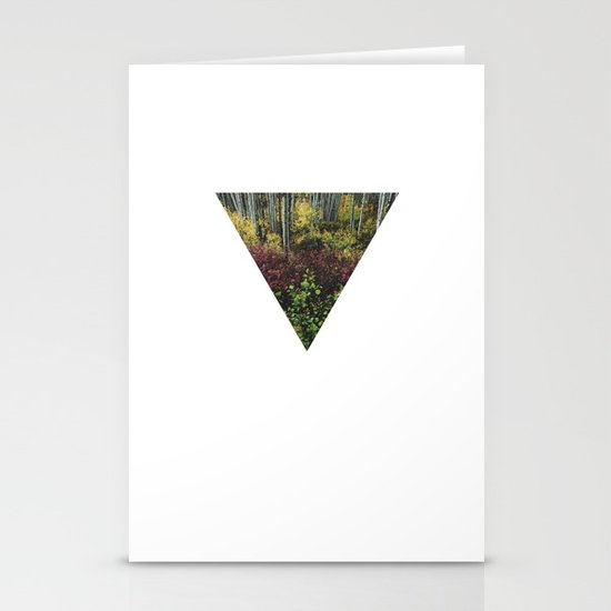 Reverse Pyramid Colors Stationery Card