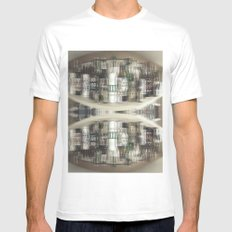 Scots SMALL White Mens Fitted Tee