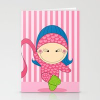 Ballerina -- Fun, sweet, unique, creative and very colorful, original,digital children illustration Stationery Cards
