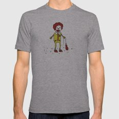 Sad Ronald McDonald In A Field Mens Fitted Tee Athletic Grey SMALL