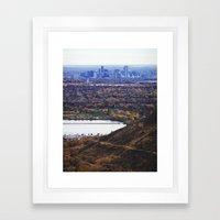 The Foothills of Denver Framed Art Print