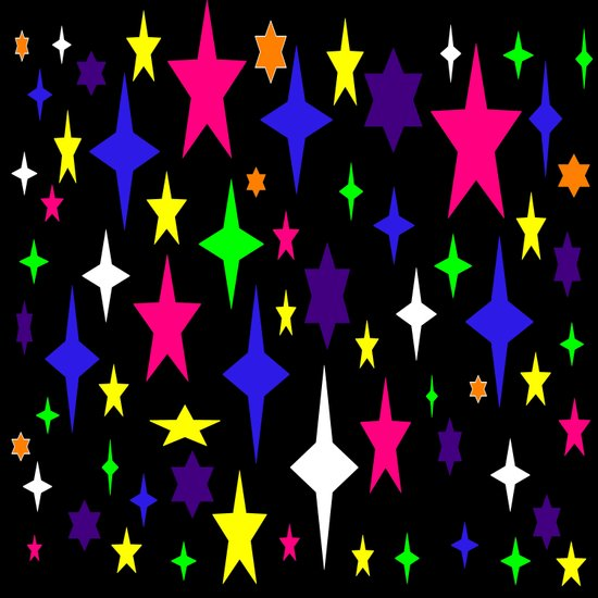 Colorful starS Art Print