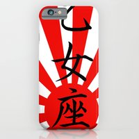 iPhone Cases featuring Kanji - Virgo Astrological Sign by The iMiJ Factory