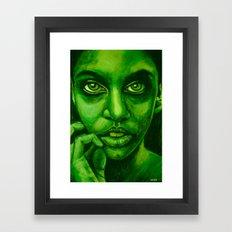 don't panic! green Framed Art Print