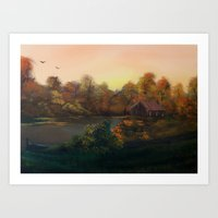 New Day In Autumn (Sold) Art Print