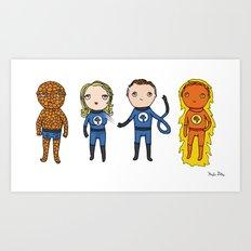 Super Cute Heroes: Fantastic Four Art Print
