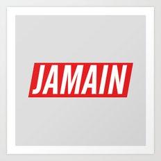 Who's Jamain Icon Art Print