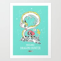Dragon Hunter Art Print