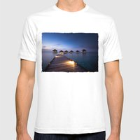 honeymooners paradise Mens Fitted Tee White SMALL