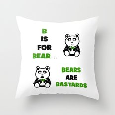 B is For Bear Throw Pillow
