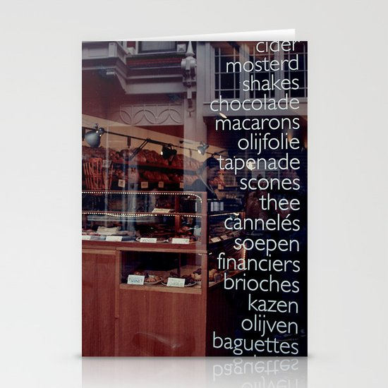 At the bakers Stationery Card