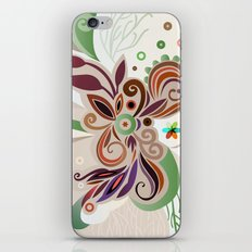 Floral curves iPhone & iPod Skin
