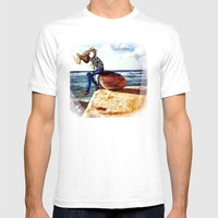 Girl on a stone Mens Fitted Tee White SMALL