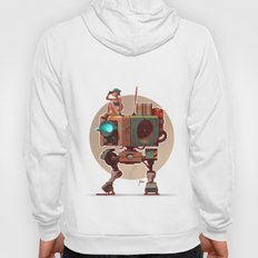 Robot with a girl Hoody