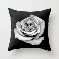 Beauty & Death - Edited Throw Pillow