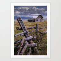 Mormon Row John Moulton Farm in the Grand Teton National Park  Art Print