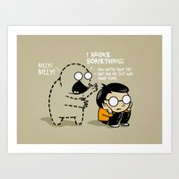 Art Print featuring Worst Imaginary Friend Ever by Boots