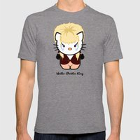Hello Goblin King Mens Fitted Tee Tri-Grey SMALL